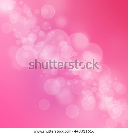 abstract pink hearts bokeh background for valentine's day - stock photo