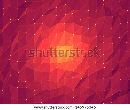 abstract pink lowpoly background - stock photo