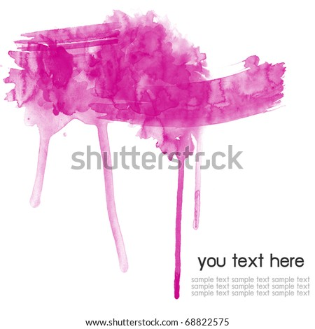 Abstract pink watercolor  background - stock photo