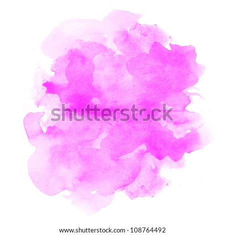 abstract pink watercolor on white background - stock photo
