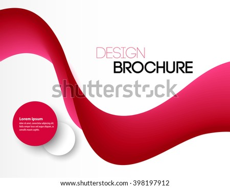 Abstract pink wavy lines. Colorful red wave background. Brochure or website design.