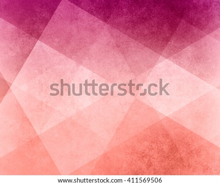 abstract pink white and peach background white striped pattern and blocks in diagonal lines with vintage pink texture - stock photo