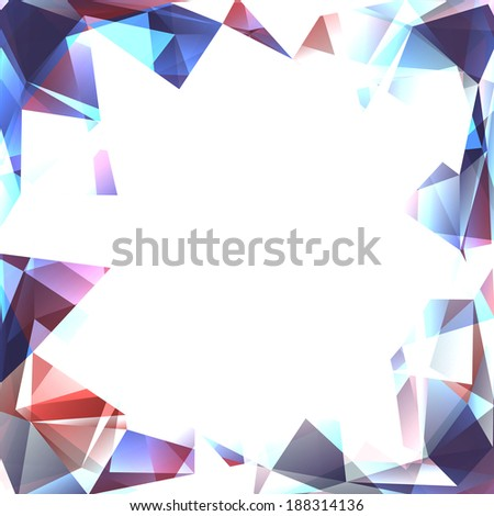 Abstract polygon frame. Surface of precious stone - stock photo
