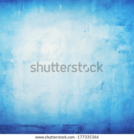 Abstract positive blue background with bright center - stock photo