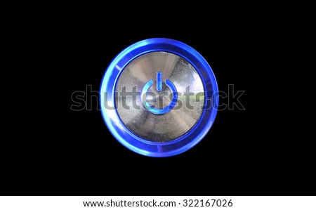 Abstract power computer button for background or wallpaper - stock photo