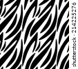 Abstract print animal seamless pattern in black and white. Zebra, tiger stripes. Monochrome repeating background texture. Fabric design. Wallpaper - raster version  - stock photo