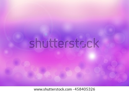 Abstract purple background with circles and light effects