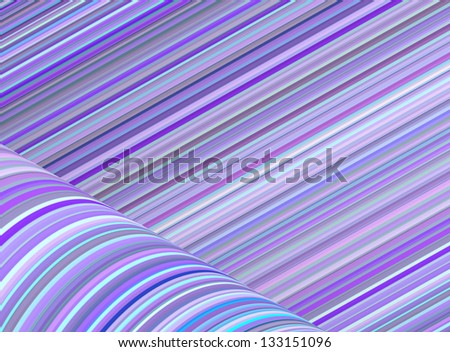 abstract purple blue cylinder curl shape backdrop - stock photo