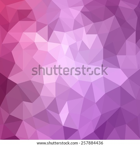 abstract purple pink background, low poly textured triangle shapes in random pattern, trendy lowpoly background - stock photo