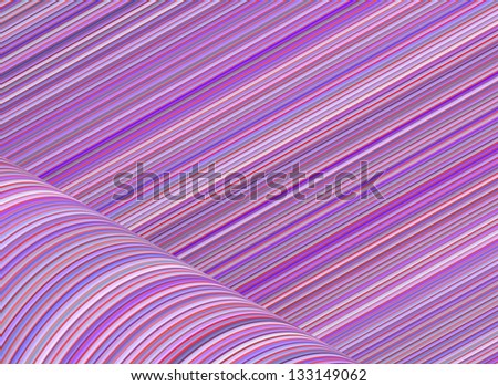 abstract purple pink cylinder curl shape backdrop - stock photo