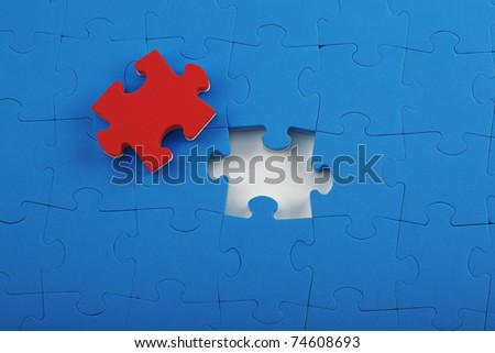 abstract puzzle background - stock photo