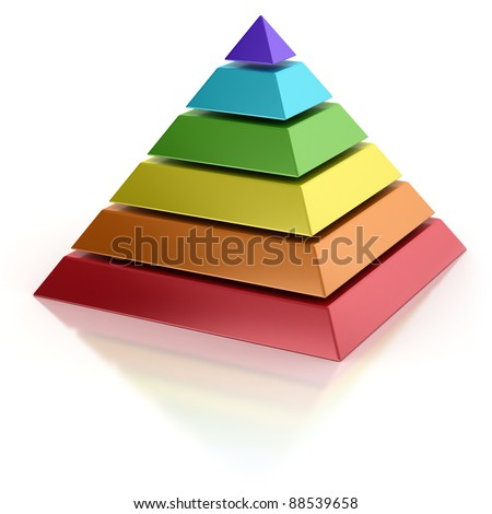 abstract pyramid - stock photo