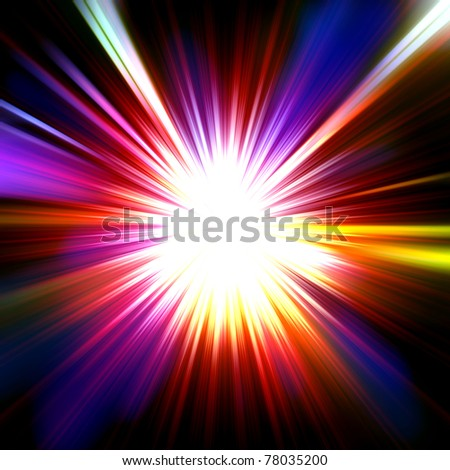 abstract radiant star - stock photo