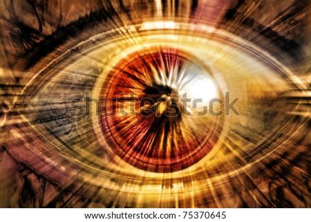 abstract radiating eye - stock photo