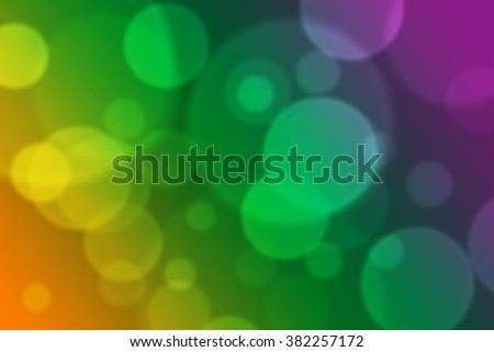 Abstract rainbow background with bokeh