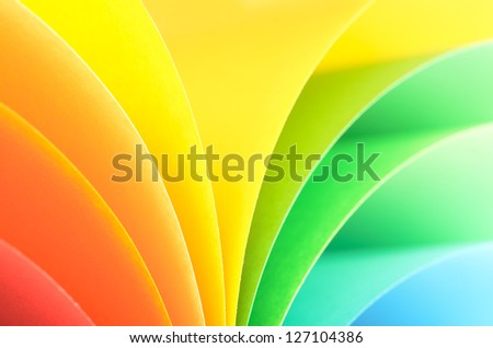 Abstract rainbow background with colored paper.Light tones. - stock photo