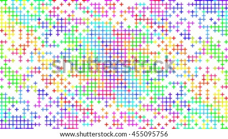 Abstract rainbow color pattern on white background.