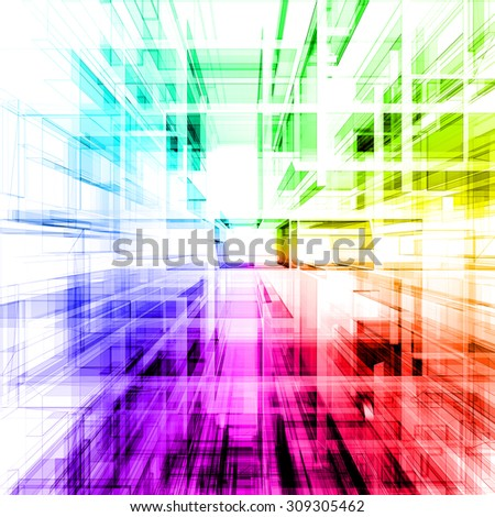 Abstract rainbow concept. 3d render - stock photo