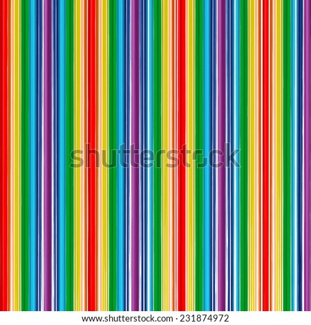 Abstract rainbow curved stripes color line background - stock photo