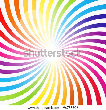Abstract Rainbow Hypnotic Background  Illustration.