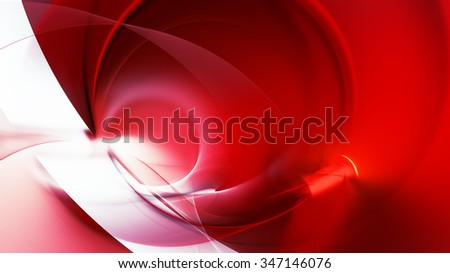 Abstract red and white motion composition. Modern bright futuristic dynamic background. Fractal art for creative graphic design