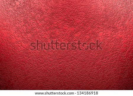 Abstract Red Background Christmas Color Wall Paint Plaster Or Concrete Vintage Grunge Texture Distressed