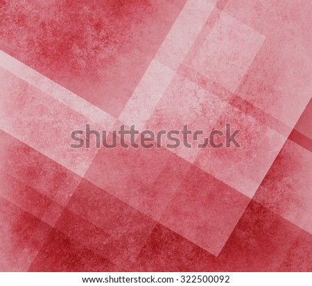 abstract red background design of angled squares blocks triangles and diamond shapes in random pattern with distressed faded vintage background texture - stock photo