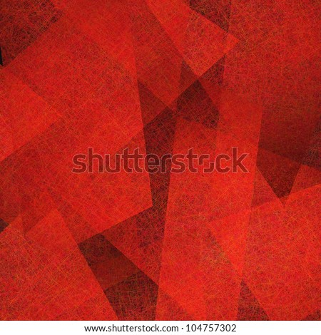 abstract red background, elegant black old parchment grunge texture in abstract art background shape layout design of red paper layers, modern art - stock photo
