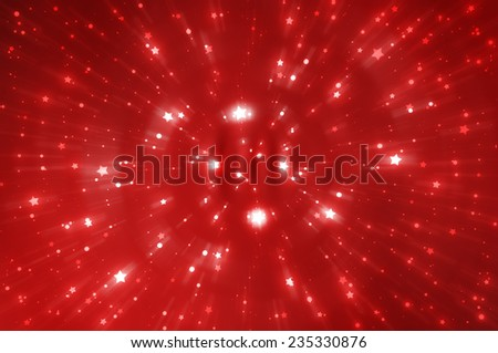 abstract red background. fractal explosion star with gloss and lines