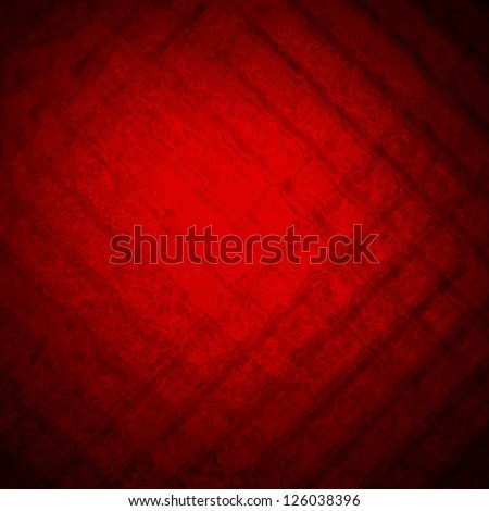 abstract red background striped pattern design, glass background texture pattern, red paper diagonal block pattern with geometric shapes and bright center for luxury Christmas background or valentine - stock photo