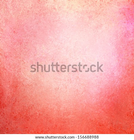 Abstract Red Background White Center And Pink Gold Border With Gradient Color Spatter Stain