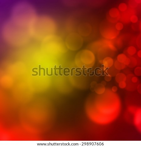 Abstract red background with blurred bokeh lights - stock photo