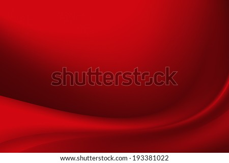 abstract red background with smooth lines - stock photo