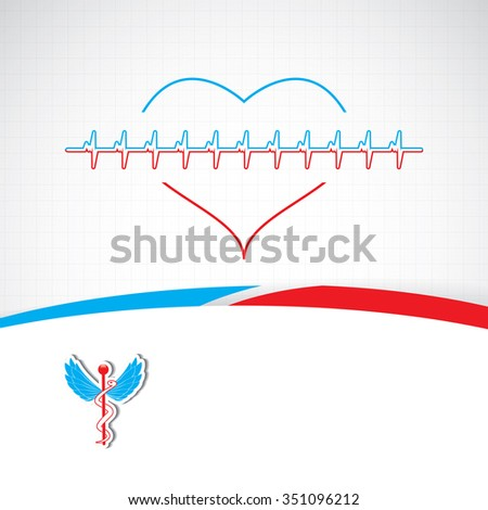 Abstract red blue grid medical background  - stock photo