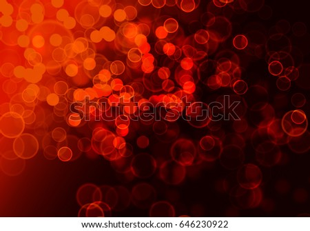 Abstract red bokeh digital background.