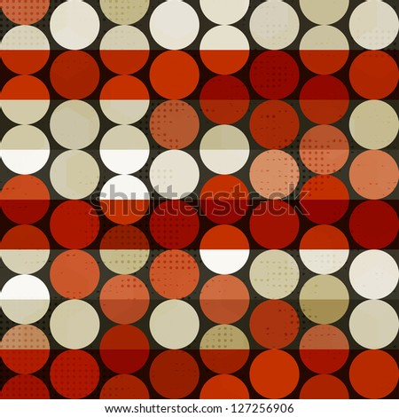abstract red circle seamless (raster version) - stock photo