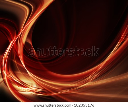 Abstract red flame element over black background - stock photo