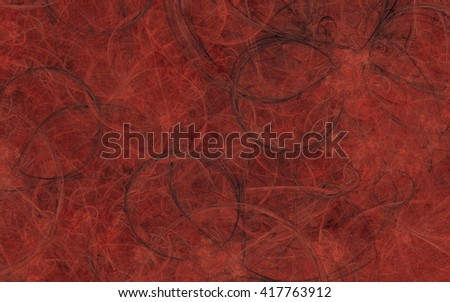Abstract red fractal texture background, concept of mystery.