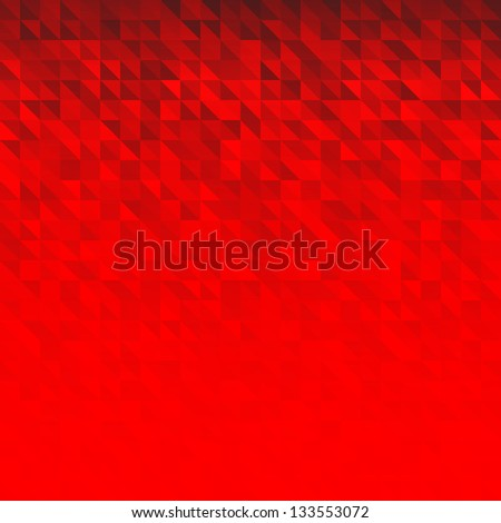 Abstract Red Geometric Technology Background, raster illustration - stock photo