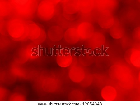 abstract red holiday lights background - stock photo