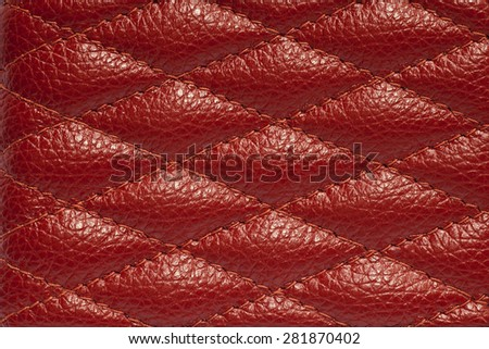 Abstract red leather for background. - stock photo