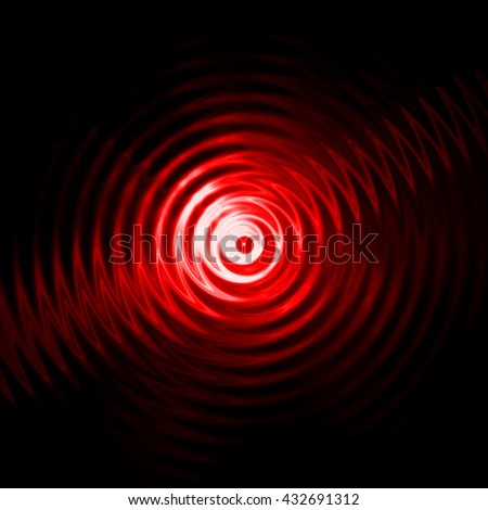 Abstract red light ripple in water with concentric circles.  - stock photo