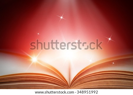 Abstract red magic book background
