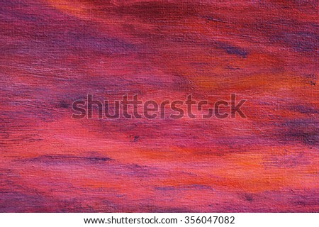 Abstract red oil painting background with brush strokes on paint. Art concept. - stock photo