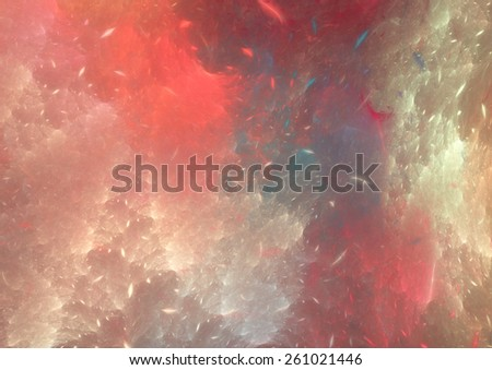 Abstract red pastel fractal background - stock photo