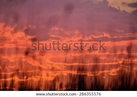 Abstract red sky  sunset background - stock photo