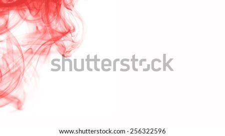 Abstract red smoke on white. - stock photo