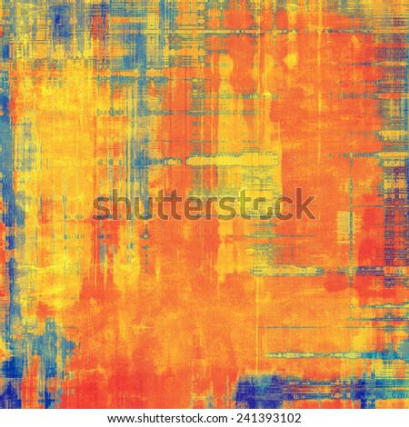 Abstract retro background or old-fashioned texture. With different color patterns: blue; yellow (beige); brown; red (orange) - stock photo