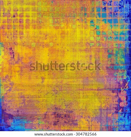 Abstract retro background or old-fashioned texture. With different color patterns: yellow (beige); blue; green; red (orange); purple (violet) - stock photo