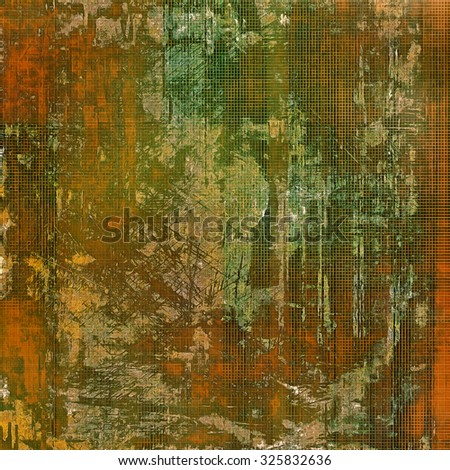 Abstract retro background or old-fashioned texture. With different color patterns: yellow (beige); brown; green; gray - stock photo